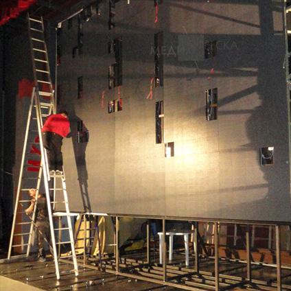 пример светодиодного лед экрана для сцены РОСАТОМ