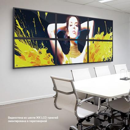 ЖК LCD видеостена из панелей