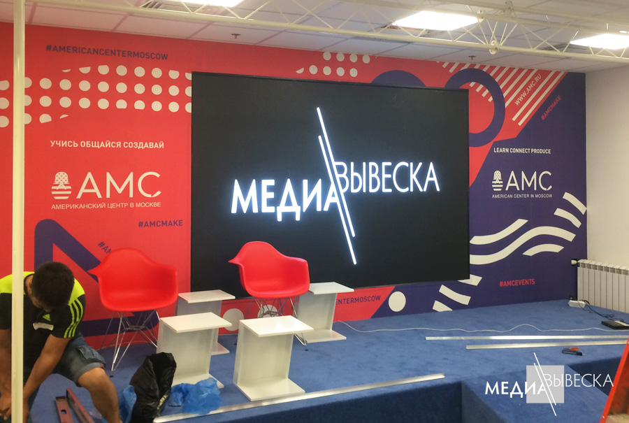 P3 Светодиодный экран LED MEVY для помещений с шагом пикселя 3мм 1кв.м